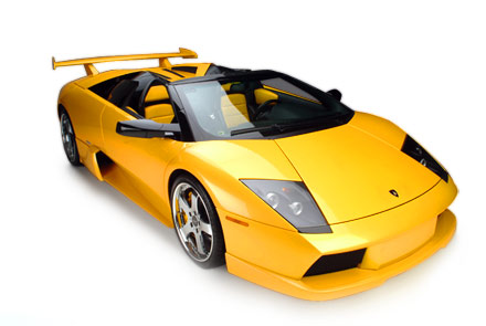new yellow sports cars picture