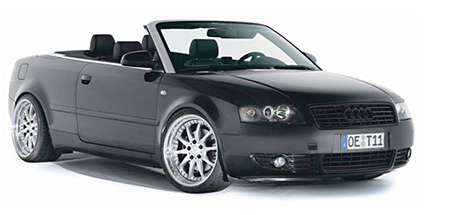 Audi A4 Cabrio with RH wheels