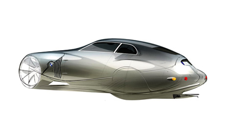 BMW Mille Miglia Concept Car Coupe Retro Style Car