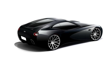 Bugatti Coupe Concept Streamliner 2+2GT