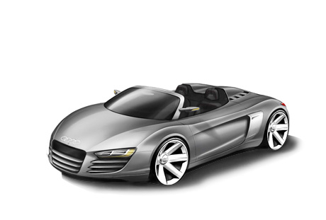 Audi R8 Cabrio Concept Car Convertible Supercar Cabrio Sports Car Audi R8